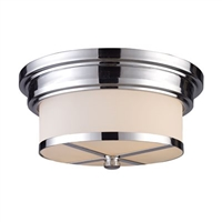 ELK Flush Mount Collection 2-Light Mount in Polished Chrome- 15015/2