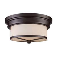 ELK Flush Mount Collection 2-Light Mount in Oiled Bronze- 15025/2