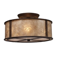 ELK Barringer Collection 3-Light Mount in Aged Bronze- 15031/3