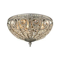 ELK Elizabethan Collection 3-Light LED Mount in Weathered Zinc- 15993/3