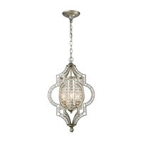 ELK Gabrielle Collection 3-Light Chandelier in Aged Silver- 16270/3