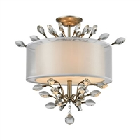 ELK Asbury Collection 3-Light Mount in Aged Silver- 16281/3
