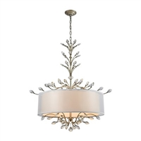 ELK Asbury Collection 6-Light Chandelier in Aged Silver- 16283/6