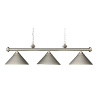 ELK Casual Traditions Collection 3-Light Billiard in Satin Nickel- 168-SN