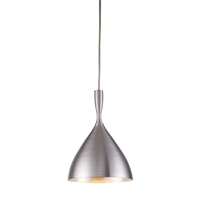 ELK Spun Collection 1-Light Pendant in Aluminum- 17042/1ALM