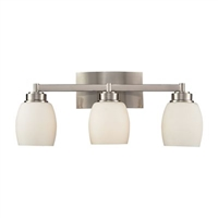 ELK Northport Collection 3-Light Vanity in Satin Nickel- 17102/3