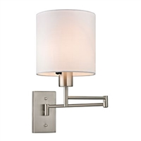 ELK Carson Collection 1-Light Swingarm Sconce in Brushed Nickel- 17150/1