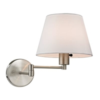ELK Avenal Collection 1-Light Swingarm Sconce in Brushed Nickel- 17153/1