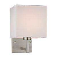 ELK Davis Collection 1-Light Sconce in Brushed Nickel- 17160/1