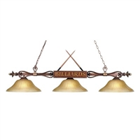 ELK Designer Classics Collection 3-Light Billiard in Wood Finish- 194-WD-G6