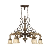 ELK Regency Collection 6-Light Chandelier in Burnt Bronze- 2161/6