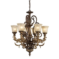 ELK Regency Collection 6-Light Chandelier in Burnt Bronze- 2163/6