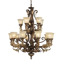 ELK Regency Collection 15-Light Chandelier in Burnt Bronze- 2166/10+5