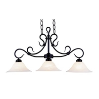 ELK Buckingham Collection 3-Light Island in Matte Black- 247-BK