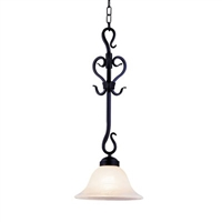 ELK Buckingham Collection 1-Light Pendant in Matte Black- 251-BK