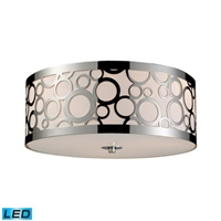 ELK Retrovia Collection 3-Light Mount in Polished Nickel- 31024/3