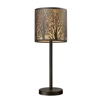 ELK Woodland Sunrise Collection 1-Light Table Lamp in Aged Bronze- 31072/1