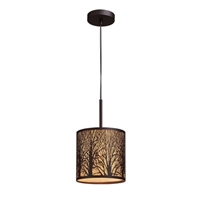 ELK Woodland Sunrise Collection 1-Light Mini Pendant in Aged Bronze- 31073/1