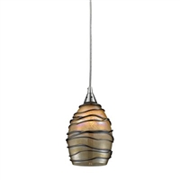 ELK Vines Collection 1-Light Mini Pendant in Satin Nickel- 31142/1