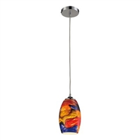 ELK Surrealist Collection 1-Light Mini Pendant in Polished Chrome- 31339/1