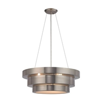 ELK Layers Collection 3-Light Chandelier in Brushed Stainless- 32225/3