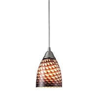 ELK Arco Baleno Collection 1-Light Mini Pendant in Satin Nickel- 416-1