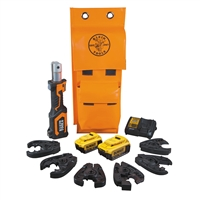 Klein Battery-Operated Cutter/Crimper Kit, 4 Ah : BAT207T144H