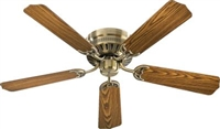 "Quorum 52"" BL CUSTM SERS Fan- Antique Brass"