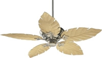 "Quorum 52"" Monaco Patio Fan- Satin Nickel"