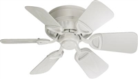 "Quorum 30"" Medallion Patio Fan- Studio White"