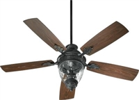 Quorum Georgia Patio Fan- Old World