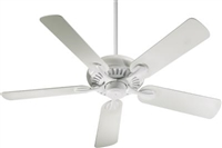 "Quorum 52"" Pinnacle Patio Fan- Studio White"