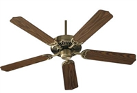 "Quorum Capri 52"" Fan- Antique Brass"