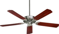 "Quorum Capri 52"" Fan- Satin Nickel w/ RSWD"