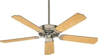 "Quorum Capri 52"" Fan-Satin Nickel w/ Maple white"