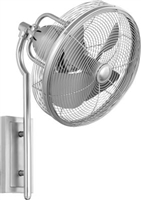 Quorum 4BL Veranda Wall Fan- Satin Nickel