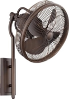 Quorum 4BL Veranda Wall Fan- Oiled Bronze