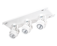 3 Fixture Multi-Head Gear Tray 40 Degree Reflector/On/Off Non-Dimming- 36W/3500K (Warm Neutral)
