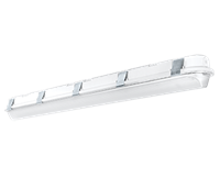 RAB SHARK Linear LED Washdown 4 foot Dimmable w/ Battery Backup 3500K (Warm Neutral)