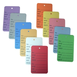 garment tags large no string