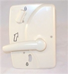25256-01 Trimark RV Motorhome Entrance Door Interior Handle Plate ONLY (Read Description Before Ordering)