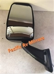 713801 Black Velvac RV Mirror Heated Remote Controlled Flat Glass