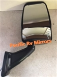 713802 Black Velvac RV Mirror  Heated Remote Controlled Flat Glass