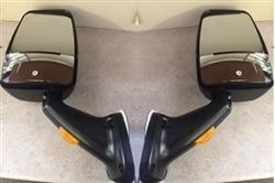 713818 Velvac 2025 Mirror Set Black Heated Remote Flat