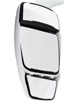 714419 Velvac White Triple Glass Mirror Head - Driver Side Inverted