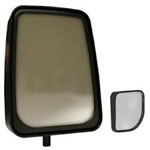 714577 Velvac Black Heated Remote Controlled Standard Mirror