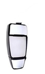 714651 Velvac Black MIRROR HEAD ONLY with Triple Glass - INVERTED