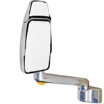 714685 Velvac RV Mirror - Driver Side, Chrome, Full Flat Head, Both Glass Heated Remote Controlled