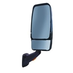 715136 Velvac RV Mirror Passenger Side, Black With Turn Signal