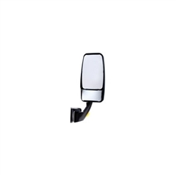 715272 WHITE Velvac Vmax Mirror Head with White Revolution Base with Turn Signal